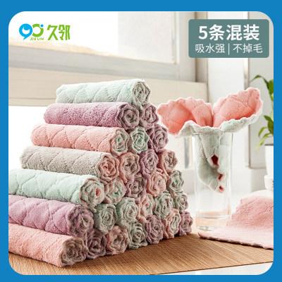 【久邻严选】家用洗碗抹布珊瑚绒5条装