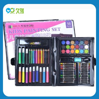 【久邻严选】柏彩-儿童水彩笔蜡笔98件绘画套装