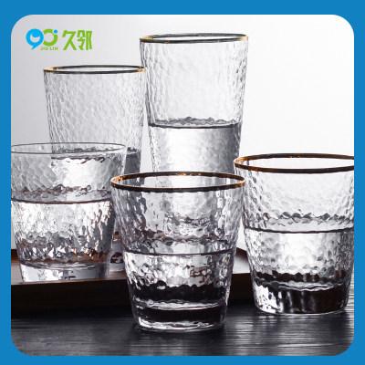 【久邻严选】日式金边锤目纹玻璃杯子