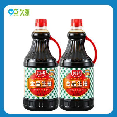 【久邻严选】厨邦酱油金品生抽1.25L*2