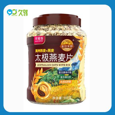 【久邻严选】金日禾野-即食冲饮太极黑麦燕麦片900g/罐
